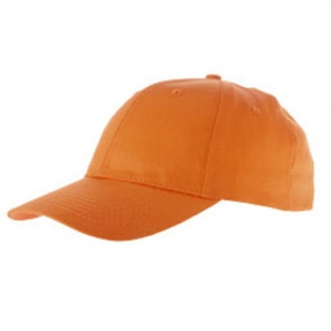 Casquette orange personnalisable
